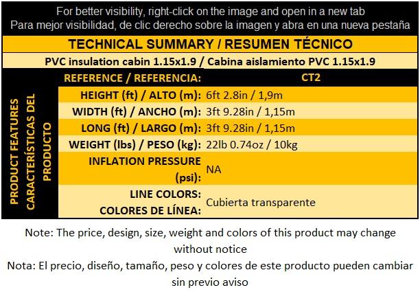 CT2 Cabina aislamiento PVC 1-15x1-9