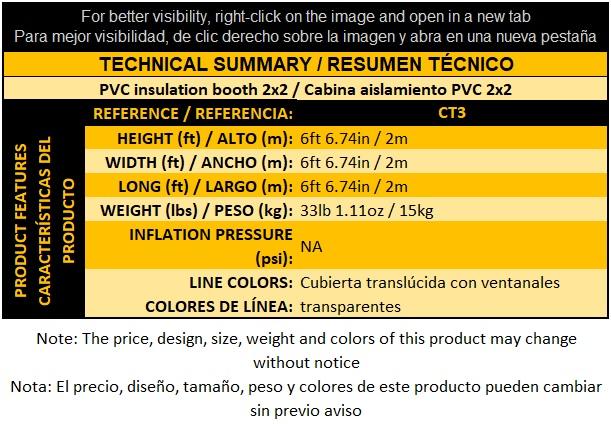 CT3 Cabina aislamiento PVC 2x2
